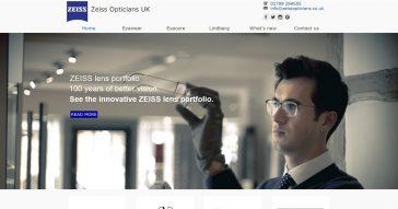 Zeiss Opticians website focuses on responsiveness